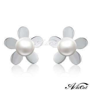 【STEVEN YANG】西德鋼飾「甜蜜小花」耳針式耳環 G5050(銀色)