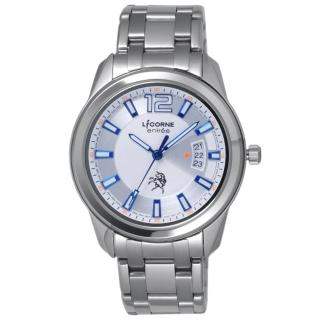 【LICORNE】日之轉換點日期腕錶-藍(LT085MWWI-N)