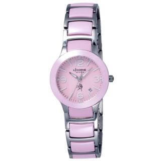 【LICORNE】entree 精簡年華日期顯示腕錶-粉(LT097LPPA)