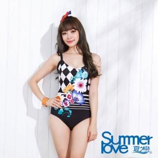 【夏之戀SUMMERLOVE】知性淑女連身三角泳衣(E15731)