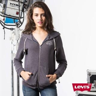【Levis】女款印花連帽外套