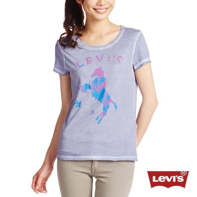 【Levis】女款暈染LOGO短袖圓領T恤