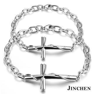 【JINCHEN】316L鈦鋼情侶手鍊一對價TCC-776(纏繞愛情手鍊/情侶飾品/情人對手鍊)