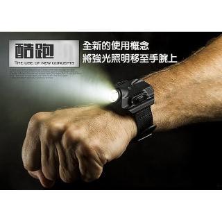 【EZlife】酷跑腕帶照明強光手電筒