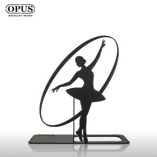 【OPUS東齊金工】歐式鐵藝書擋/創意書架/金屬書夾/書本收納架/生日禮物(neba10 - 芭蕾)