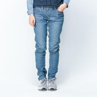 【ATUNAS 歐都納】Soft shell/透氣/保暖/耐磨/刷毛/牛仔/女長褲(A-PA1525W 藍 XS-XL)