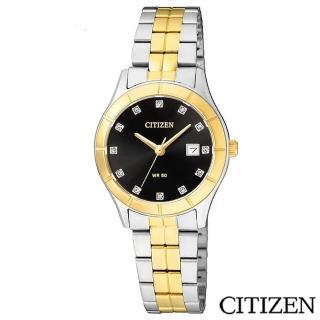 【CITIZEN星辰】華麗金色元素典藏女仕腕錶(EU6044-51E)