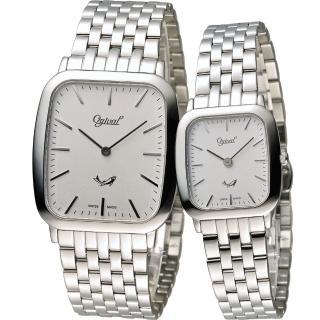 【Ogival 愛其華】Ogival 愛其華蟬翼系列超薄時尚對錶(393MS 393LS)