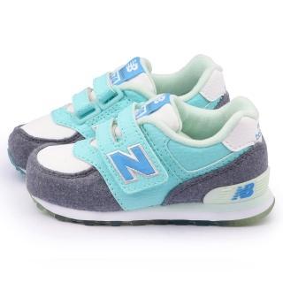 【NewBalance】小童 經典574復古運動鞋(KG574FYI-水藍)