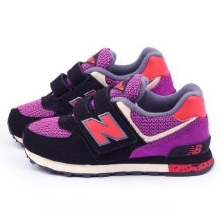 【NewBalance】中大童 經典574復古運動鞋(KV574K1Y-黑紫)