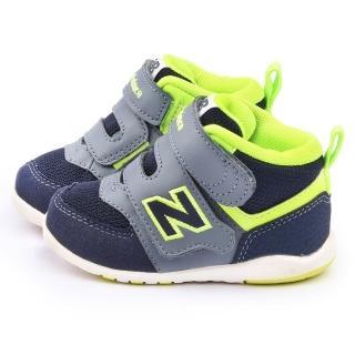【NewBalance】小小童 574復古短筒運動鞋(FS574HGI-灰藍)