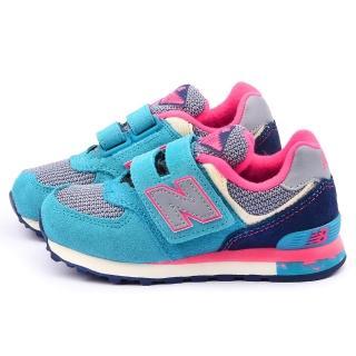 【NewBalance】中大童 經典574復古運動鞋(KV574K2Y-藍粉)