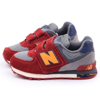【NewBalance】中大童 經典574復古運動鞋(KV574K3Y-紅灰)