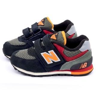 【NewBalance】小童 經典574復古運動鞋(KG574K4I-黑)