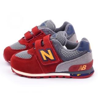 【NewBalance】小童 經典574復古運動鞋(KG574K3I-紅灰)