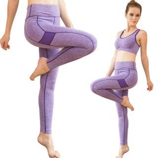 【Seraphic】完美曲線機能運動褲/壓縮褲/緊身褲(紫)
