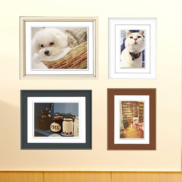 【CRE88】創意時尚木紋4框相框牆(4色混搭)