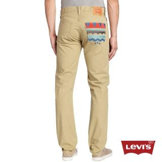 【Levis】508 優勝美地圖騰 7oz 輕磅卡其休閒褲