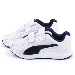 【PUMA】中大童 輕量透氣運動鞋(188379-03-白)
