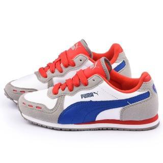 【PUMA】大童 輕量慢跑運動鞋(351979-34-灰)
