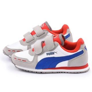 【PUMA】中大童 輕量透氣運動鞋(351980-37-灰)