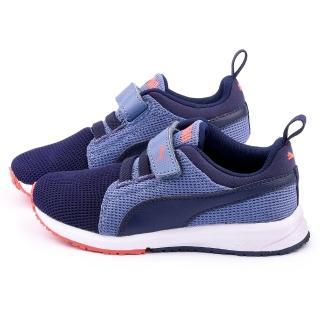 【PUMA】中大童 輕量透氣運動鞋(358908-15-紫)