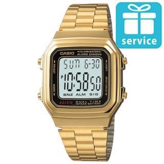 【CASIO】復古金典方形經典電子錶(A-178WGA-1)