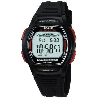 【CASIO】精緻時間電子腕錶(LW-201-4A)