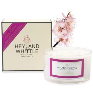 【H&W英倫薇朵】櫻花三蕊香氛燭(480g)  H&W 英倫薇朵