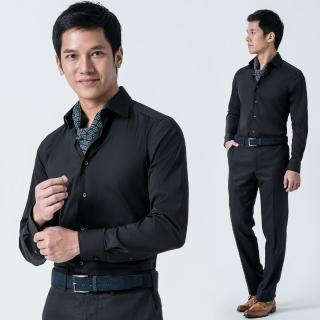 【V.&V.】義大利彈性棉料休閒襯衫_黑色(IR456-89)