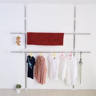 【ikloo宜酷屋】頂天立地可調式不鏽鋼曬衣架
