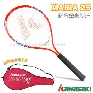 【日本 KAWASAKI】川崎 MARIA 複合強化鋁合金網球拍_短握 25吋(紅 KP725RD)