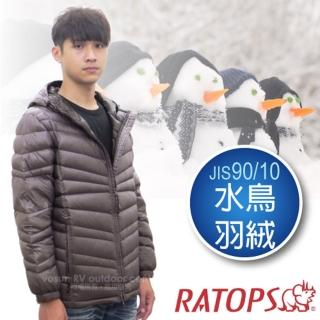 【瑞多仕-RATOPS】男20丹超輕羽絨衣.羽絨外套.保暖外套.雪衣(RAD357 石墨色)