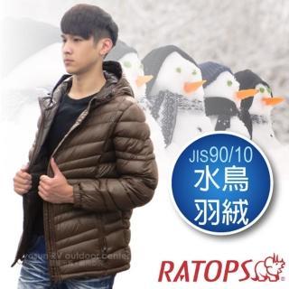【瑞多仕-RATOPS】男20丹超輕羽絨衣.羽絨外套.保暖外套.雪衣(RAD356 咖啡色)
