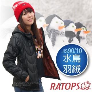 【瑞多仕-RATOPS】女20丹超輕羽絨衣.羽絨外套.保暖外套.雪衣(RAD361 黑色/酒粕色)
