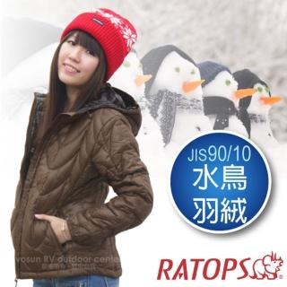 【瑞多仕-RATOPS】女20丹超輕羽絨衣.羽絨外套.保暖外套.雪衣(RAD358 咖啡色)