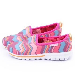 【SKECHERS】中大童 輕量舒適運動休閒鞋(81065LHPMT-桃)