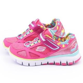 【SKECHERS】中童 輕量緩衝透氣運動鞋(81651LNPMT-桃)
