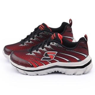 【SKECHERS】大童 輕量記憶型運動鞋(95340LRDBK-紅黑)