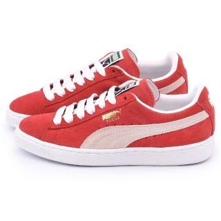 【PUMA】男款 Suede Classic + 運動鞋(352634-05-紅)