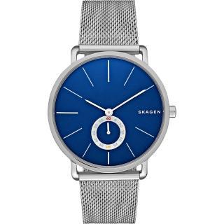 【SKAGEN】Hagen 小秒針腕錶-藍x銀/40mm(SKW6230)