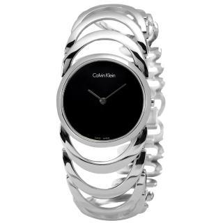 【Calvin Klein】BODY鍊戀時空經典手鍊式不鏽鋼腕錶 黑色 30mm(K4G23121)