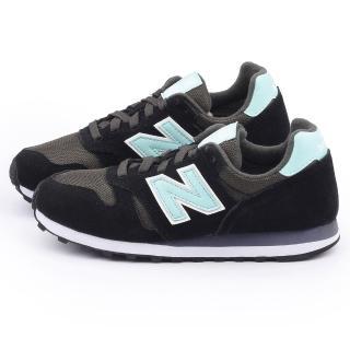 【New Balance】女款 麂皮復古運動鞋(WL373SKM-黑青)