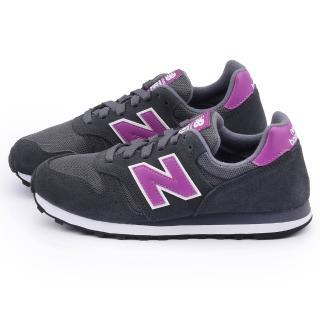 【New Balance】女款 麂皮復古運動鞋(WL373SGL-黑紫)