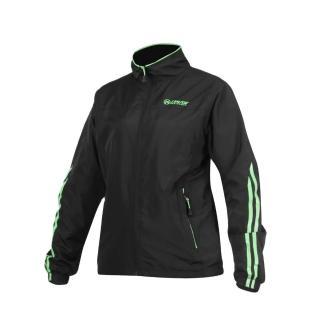 【FIRESTAR】女立領磨毛裏夾克-風衣外套 防潑水 防風(黑螢光綠)
