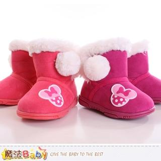 【魔法Baby】女童雪靴 迪士尼米妮授權正品短筒雪靴(sh9333)