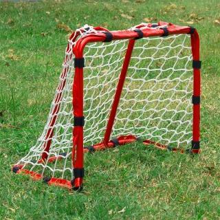 【D.L.D多輪多】專業兒童足球、曲棍球門 小球門 免拆裝(紅)
