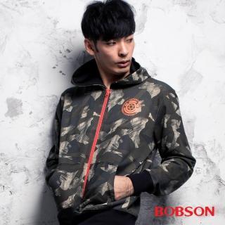 【BOBSON】男款迷彩連帽外套(35019-42)
