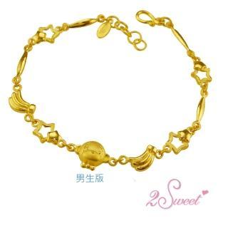 【甜蜜約定2sweet-HC-2644】純金金飾猴年手鍊-約重1.93錢(猴年)