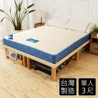 【時尚屋】日式雙布色3尺單人經典獨立筒彈簧床墊(GA13-3)